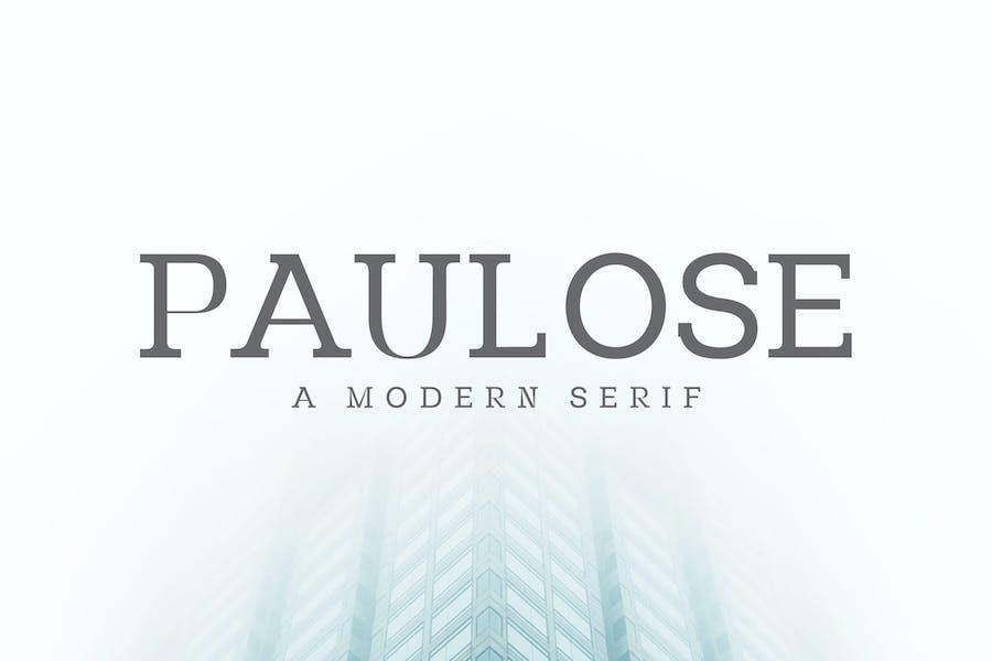Paulose Modern Serif Font Family