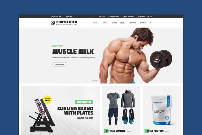 Thumbnail for BodyCenter - Fitness WooCommerce WordPress Theme