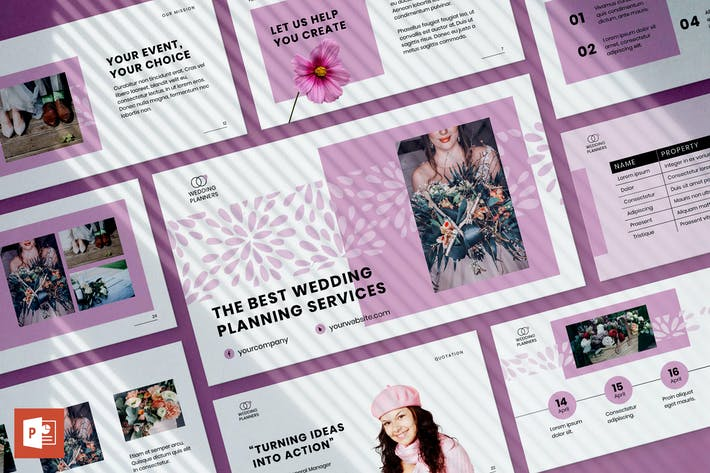 Thumbnail for Hochzeitsplaner PowerPoint PräsentationsVorlage