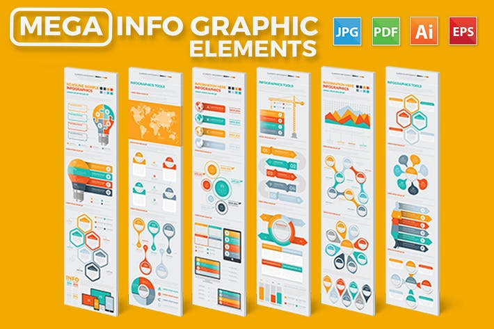 Thumbnail for Mega Infographics Elements Design