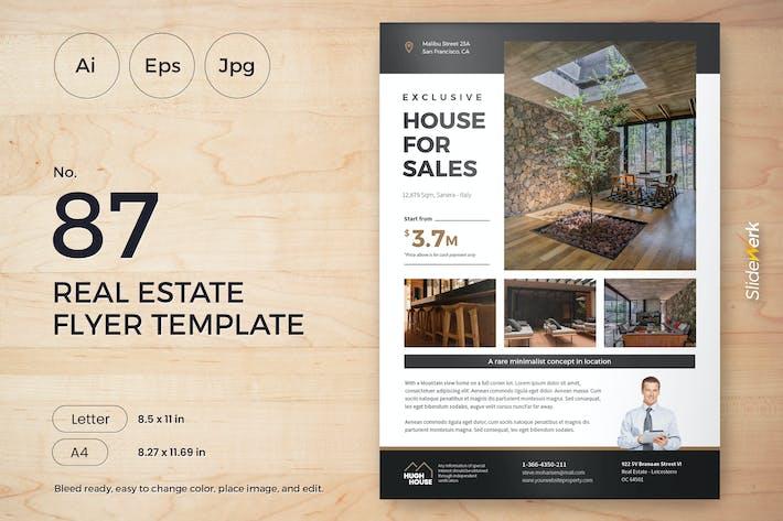 Thumbnail for Real Estate Flyer Template 87 - Slidewerk