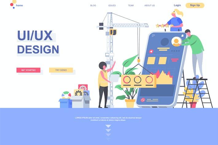 UI/UX Development Landing Page Template
