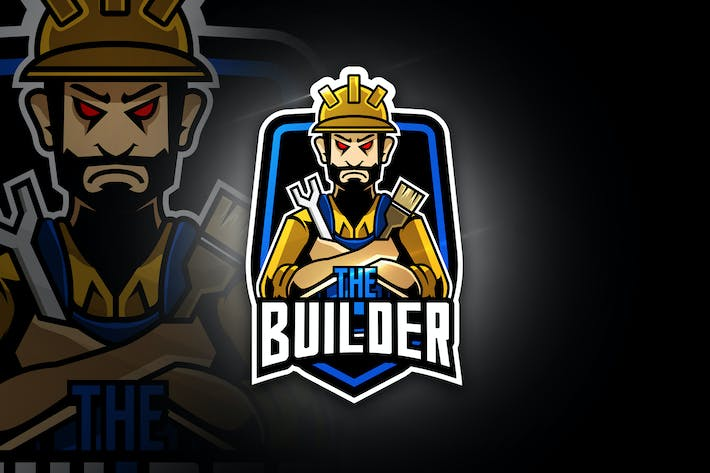 Thumbnail for The Builder - Mascot & Esport Logo