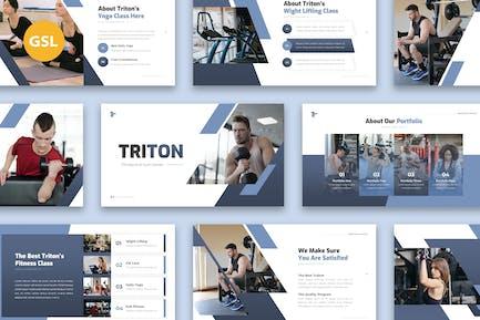 Triton - Fitness Gym Presentation Google Slides