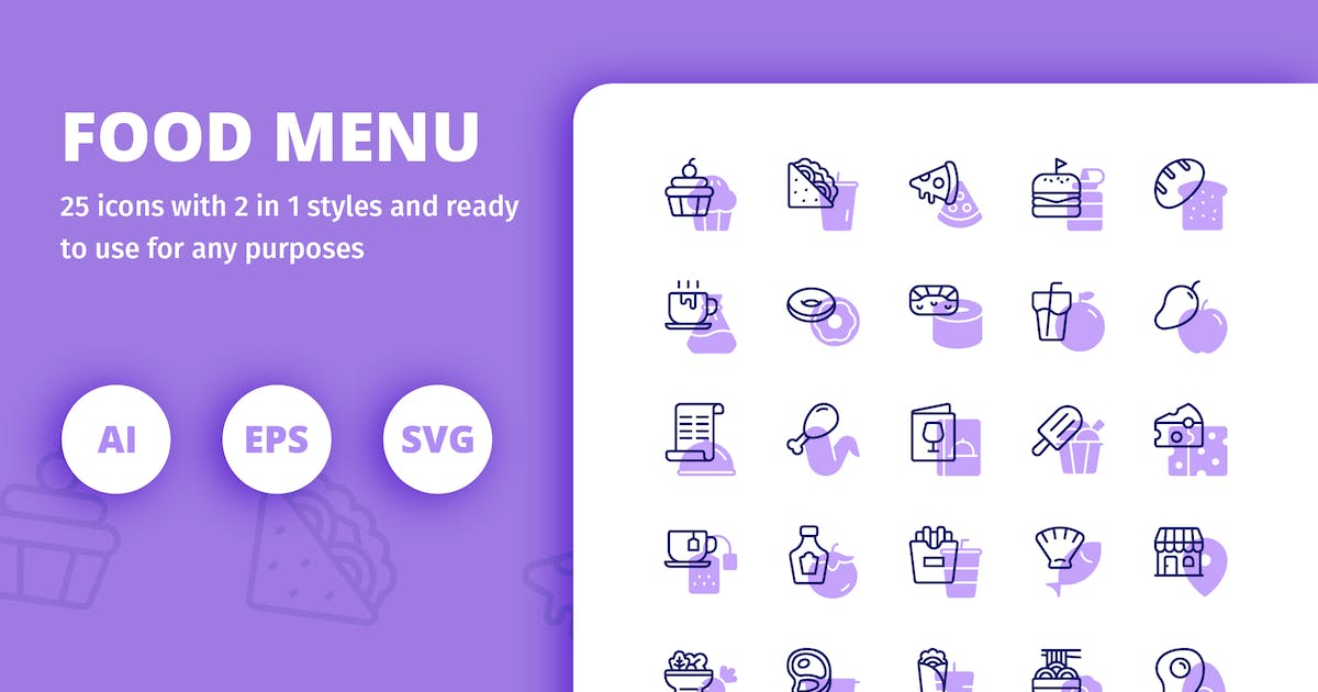 Download Food Menu (Line and Solid) by inipagi