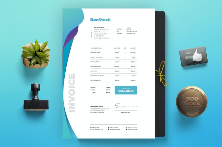 Thumbnail for Invoice Template 37