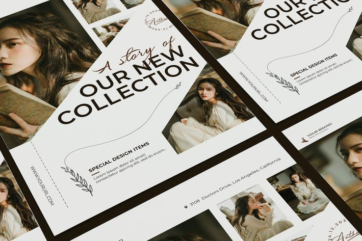 Thumbnail for Creative Fashion Poster PSD Template