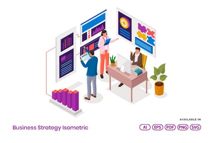 Business Strategy Isometric