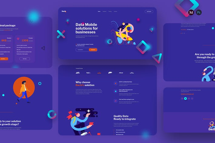 Thumbnail for Dachi - Database Services landing page template