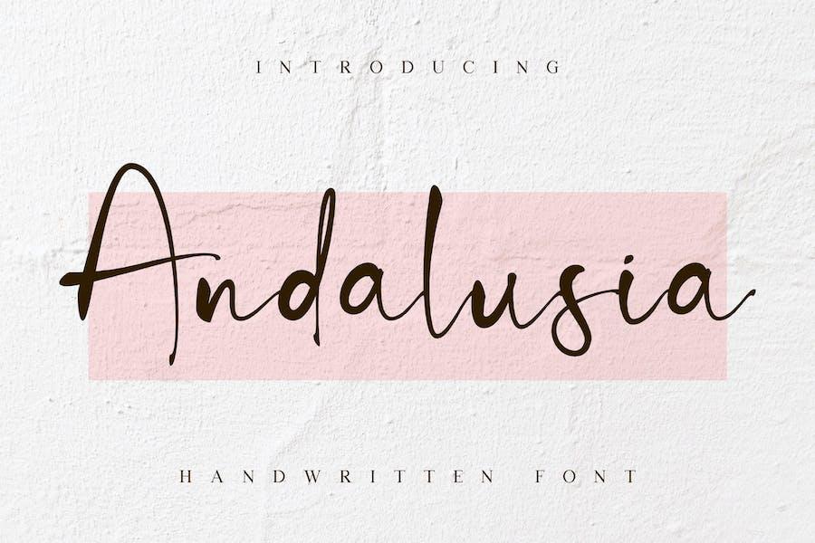 Andalusia - Beauty Brush Script