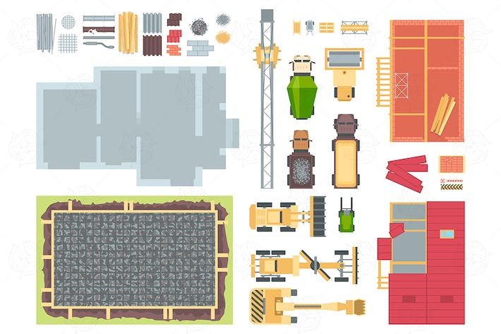 Thumbnail for Construction elements - set of vector objects