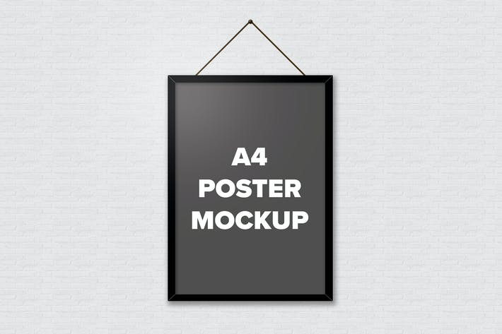 Thumbnail for Poster Frame Mockups - A4