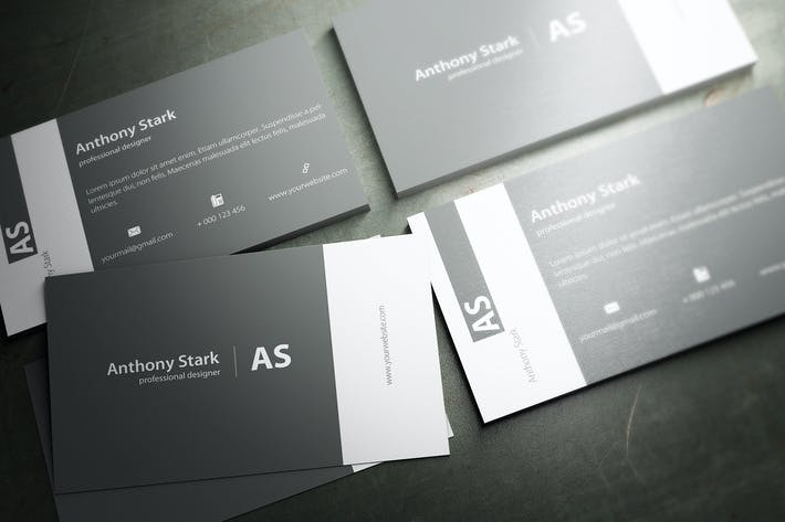 Thumbnail for Grey Elegant Business Card Design
