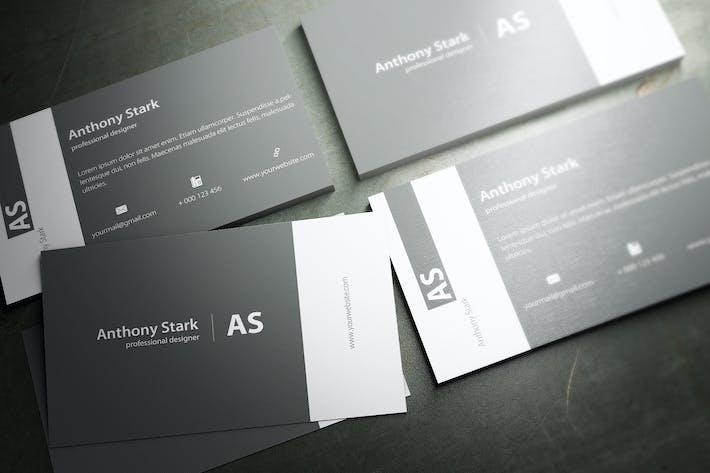 Grey Elegant Business Card Design