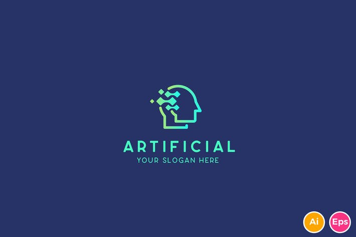 Cover Image For Human Artificial Intelligence Technology Logo