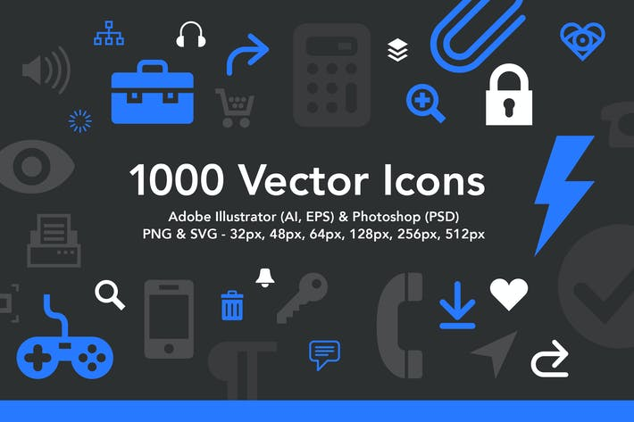 Thumbnail for 1000 Vector Icons