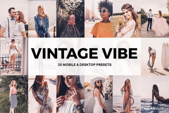 Thumbnail for 20 Vintage Vibe Lightroom Presets and LUTs