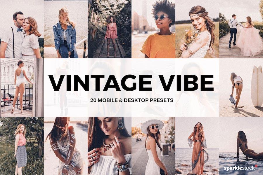 20 Vintage Vibe Lightroom Presets and LUTs