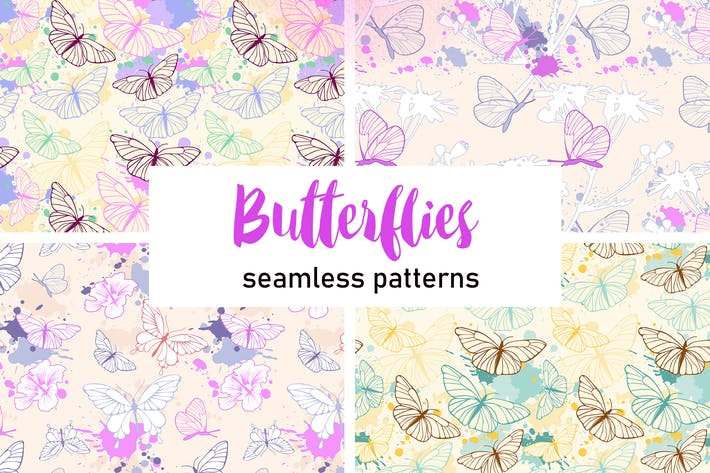 Thumbnail for Butterfly Seamless Patterns