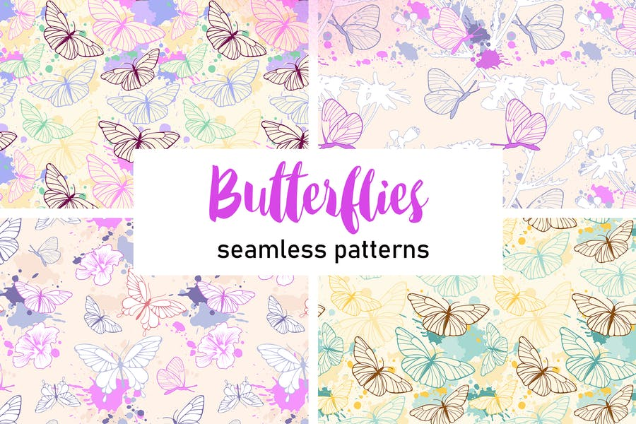 Butterfly Seamless Patterns