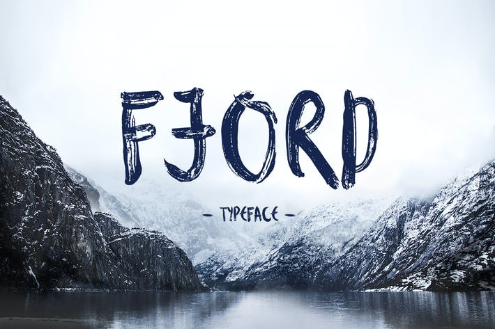 Thumbnail for Fjord Brush Font