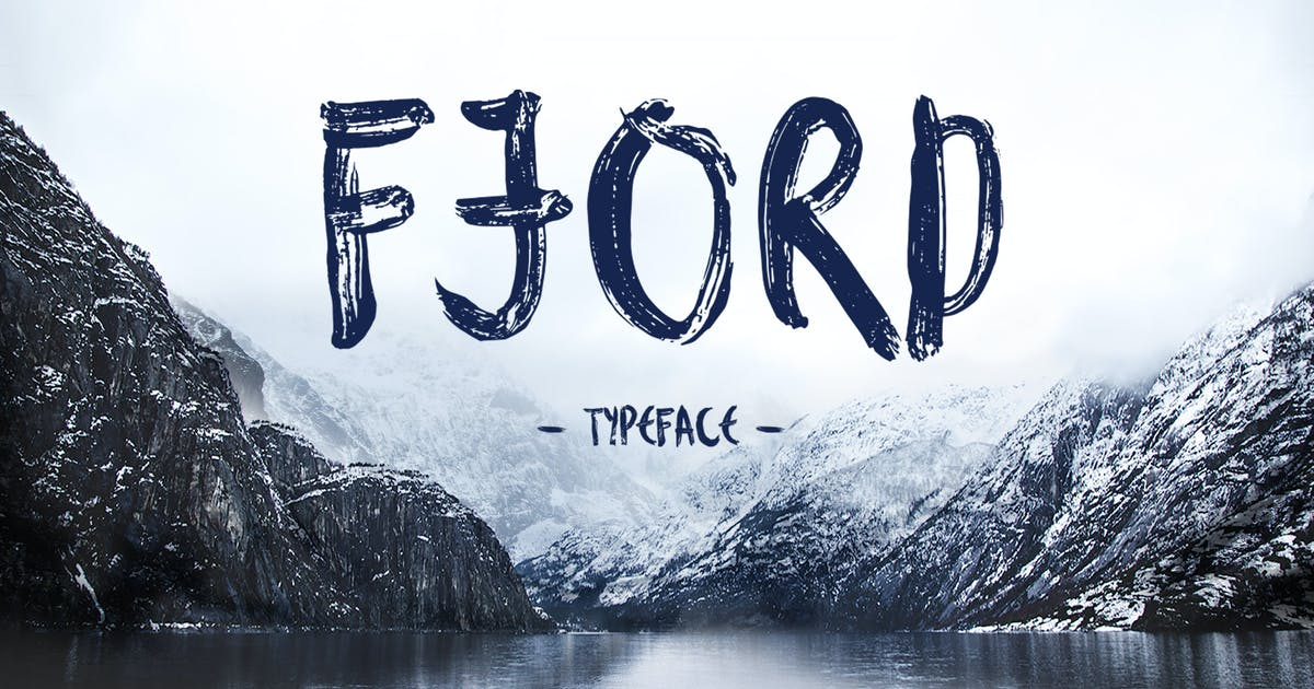 Download Fjord Brush Font by WildOnes