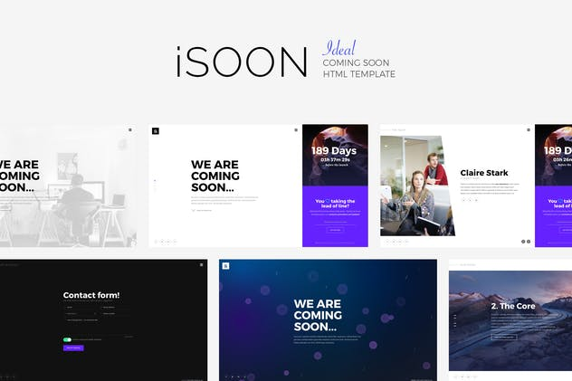 iSOON - Ideal Coming Soon Template - product preview 3