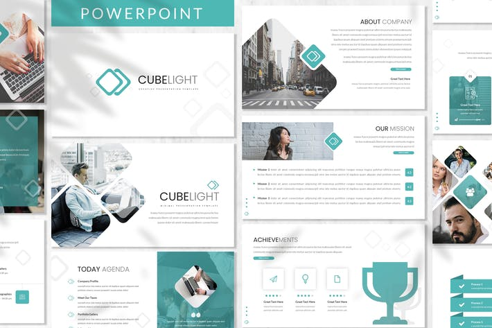 Thumbnail for Cubelight - Business Powerpoint Template