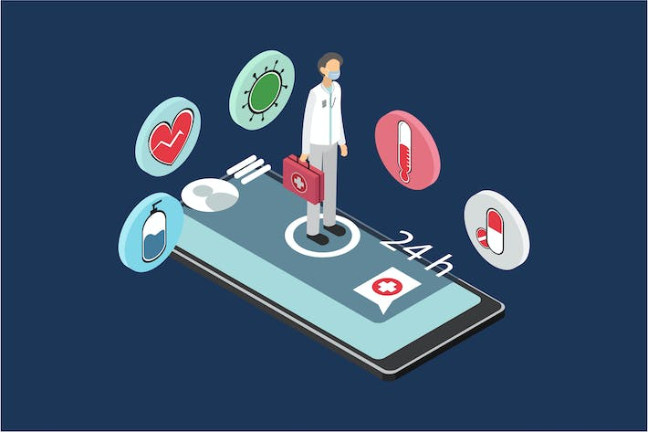 Thumbnail for Medical Isometric Illustration