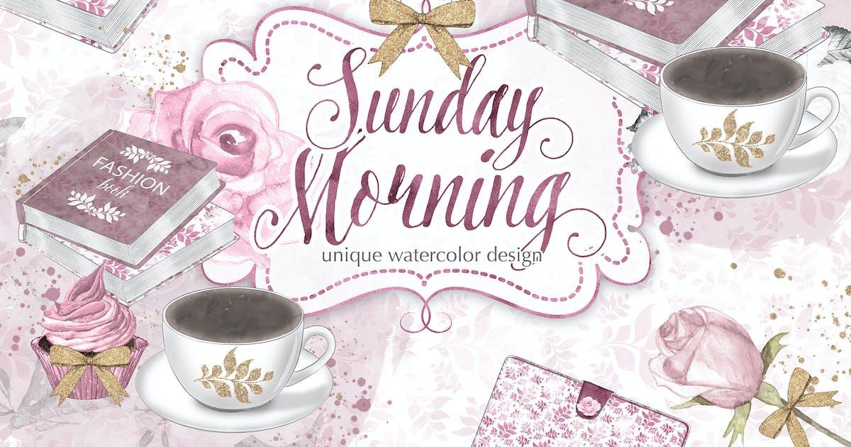 Download Watercolor Sunday Morning design by designloverstudio