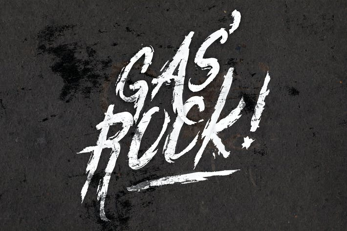 Thumbnail for Gas'Rock! Font