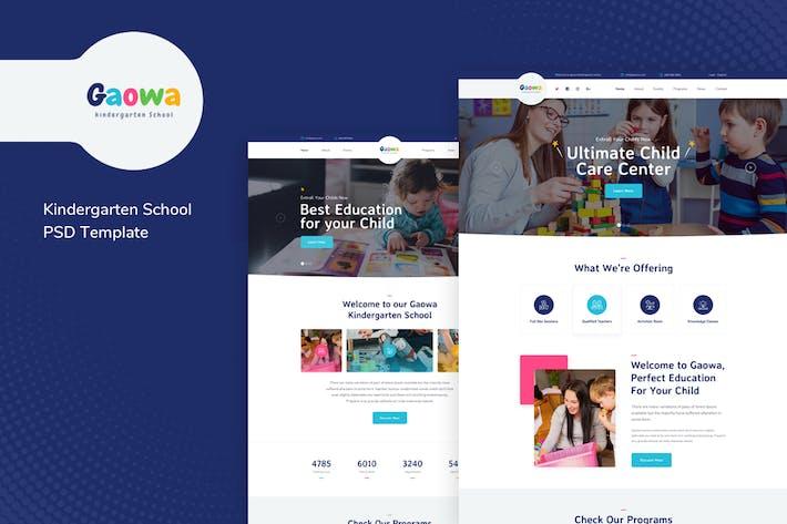 Thumbnail for Gaowa - Kindergarten School PSD Template