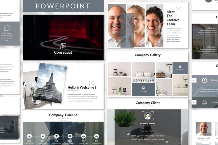 Thumbnail for Consequat - Photograph Powerpoint Template