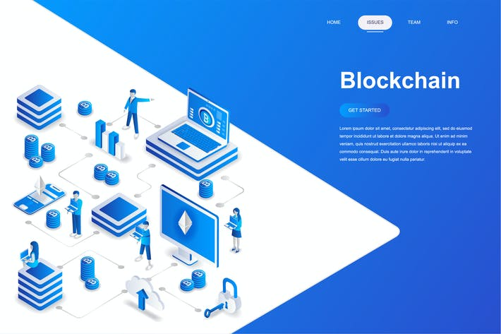 Thumbnail for Blockchain Isometric Concept