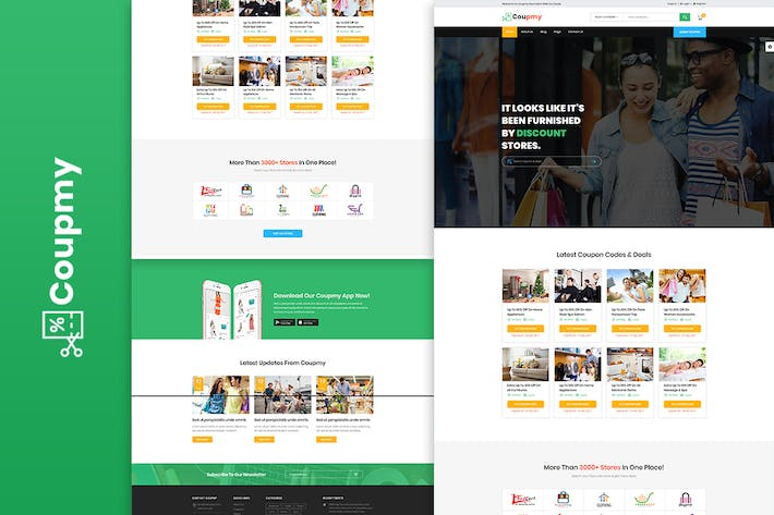 Thumbnail for Coupmy Discounts & Marketplace HTML Template