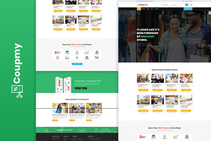 Coupmy Discounts & Marketplace HTML Template
