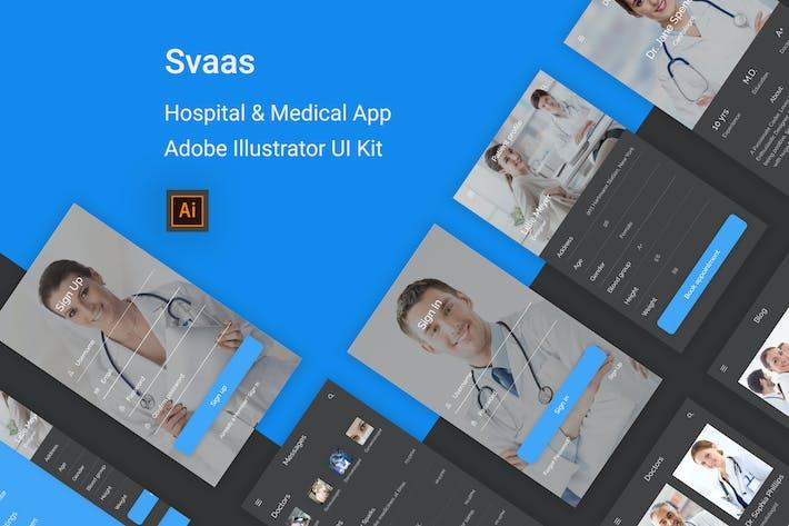 Thumbnail for Svaas - Hospital & Medical Illustrator UI Kit