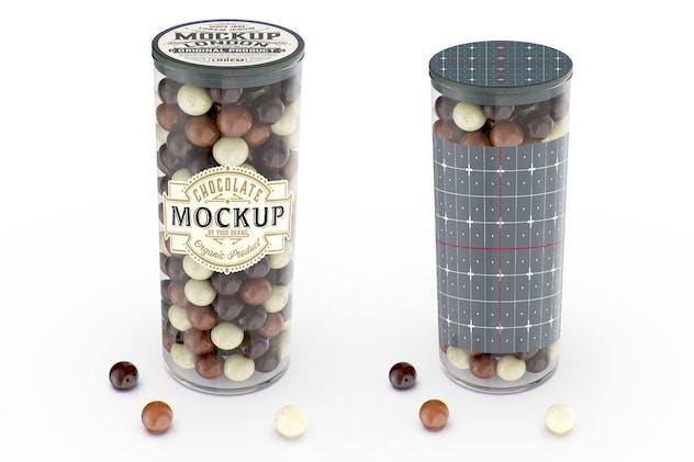 Jar with Chocolate Balls Mockup