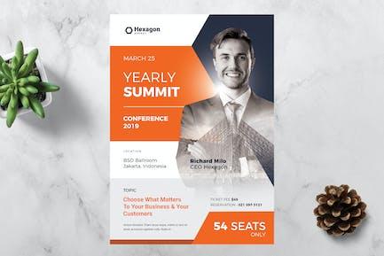 Флаер конференции Hexagon