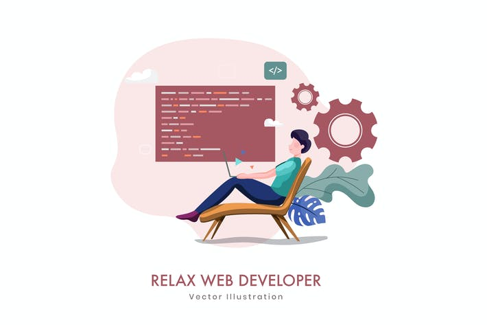 Thumbnail for Relax Web Development Vektor illustration