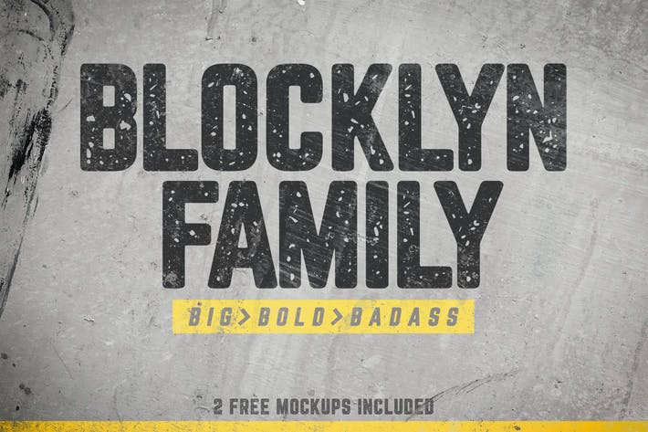 Thumbnail for Blocklyn Font Family + Mockups