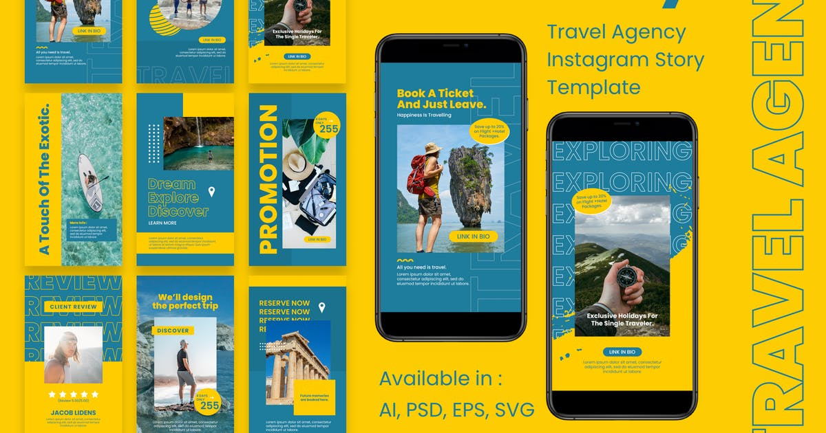 Download Travel Agency Instagram Story Template by deTheme