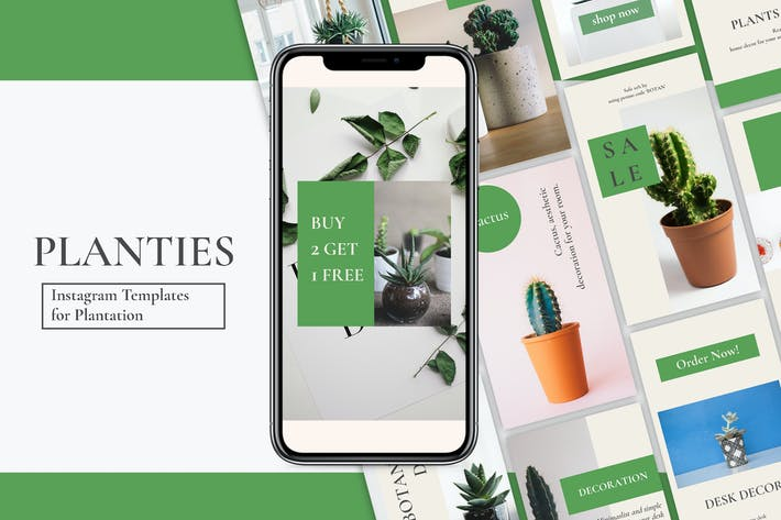 Thumbnail for Planties Instagram Stories Templates