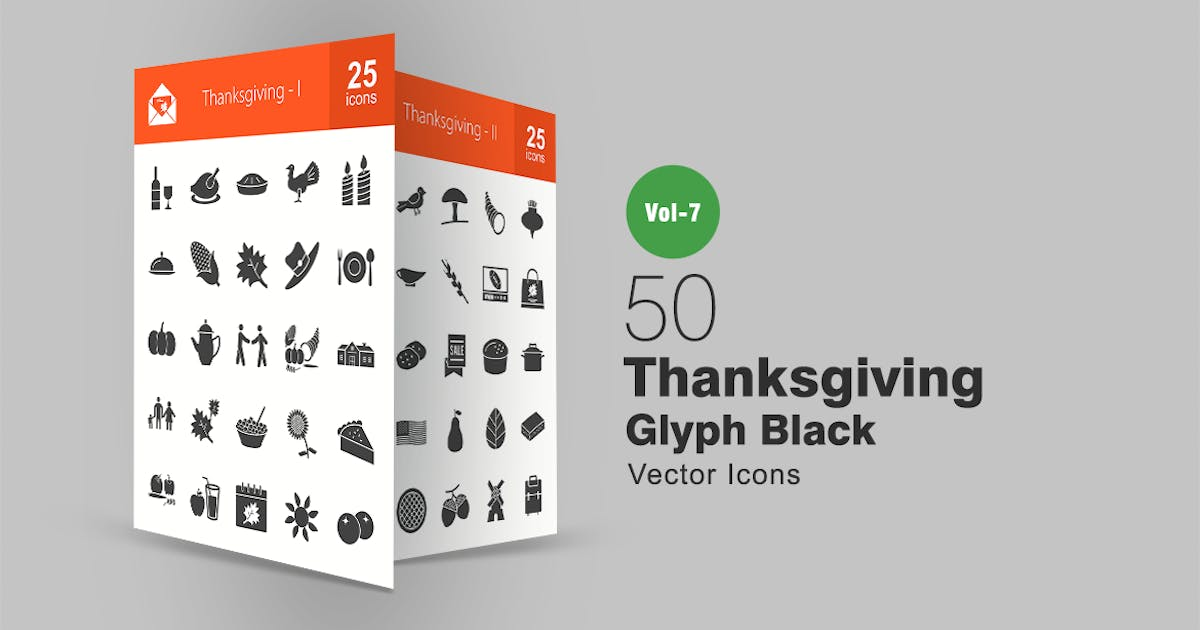 Download 50 Thanksgiving Glyph Icons by IconBunny