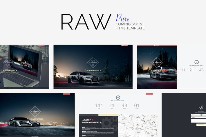Cover Image For #RAW // Pure Coming Soon Template