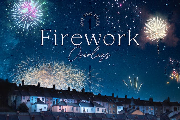 100 Firework Overlays - product preview 0