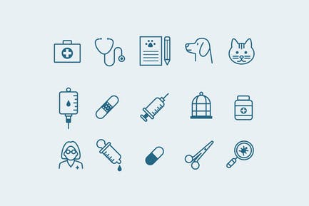 15 Veterinary Icons