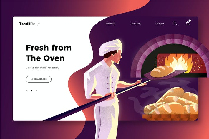 Thumbnail for Bakery - Banner & Landing Page