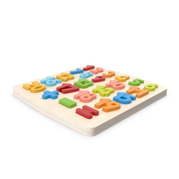 Wood Puzzle Numbers