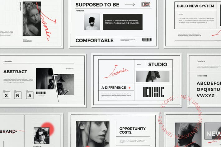 Thumbnail for Iconic - Minimal Fashion Powerpoint Template